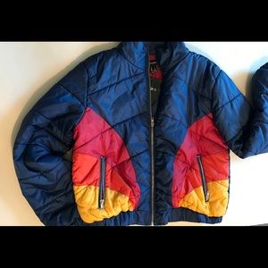 NWT Navy puffer jacket Size L